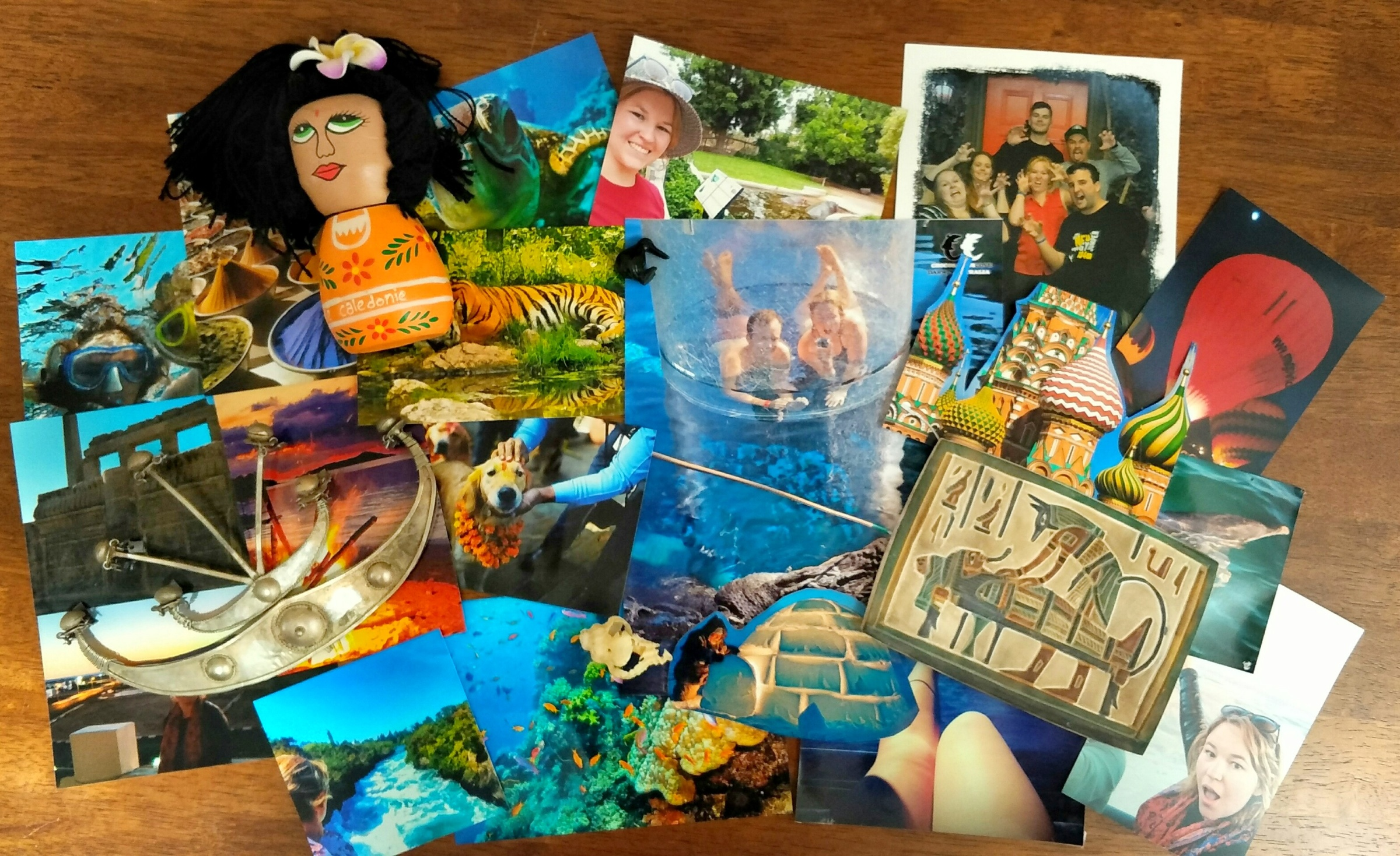 A collection of photographs and souvenirs