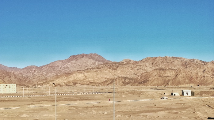 the mountain ranges in Dahab.