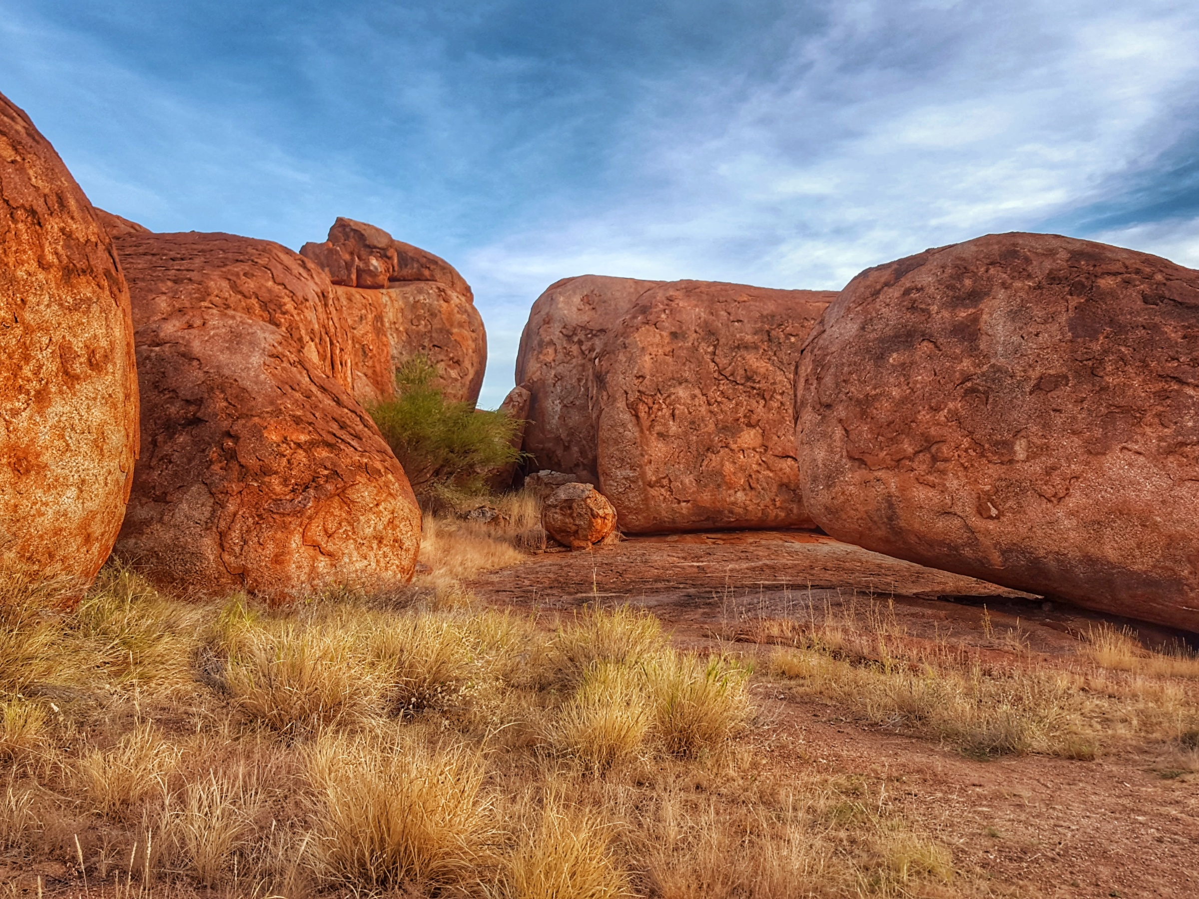 The Devil's Marbles before sunset