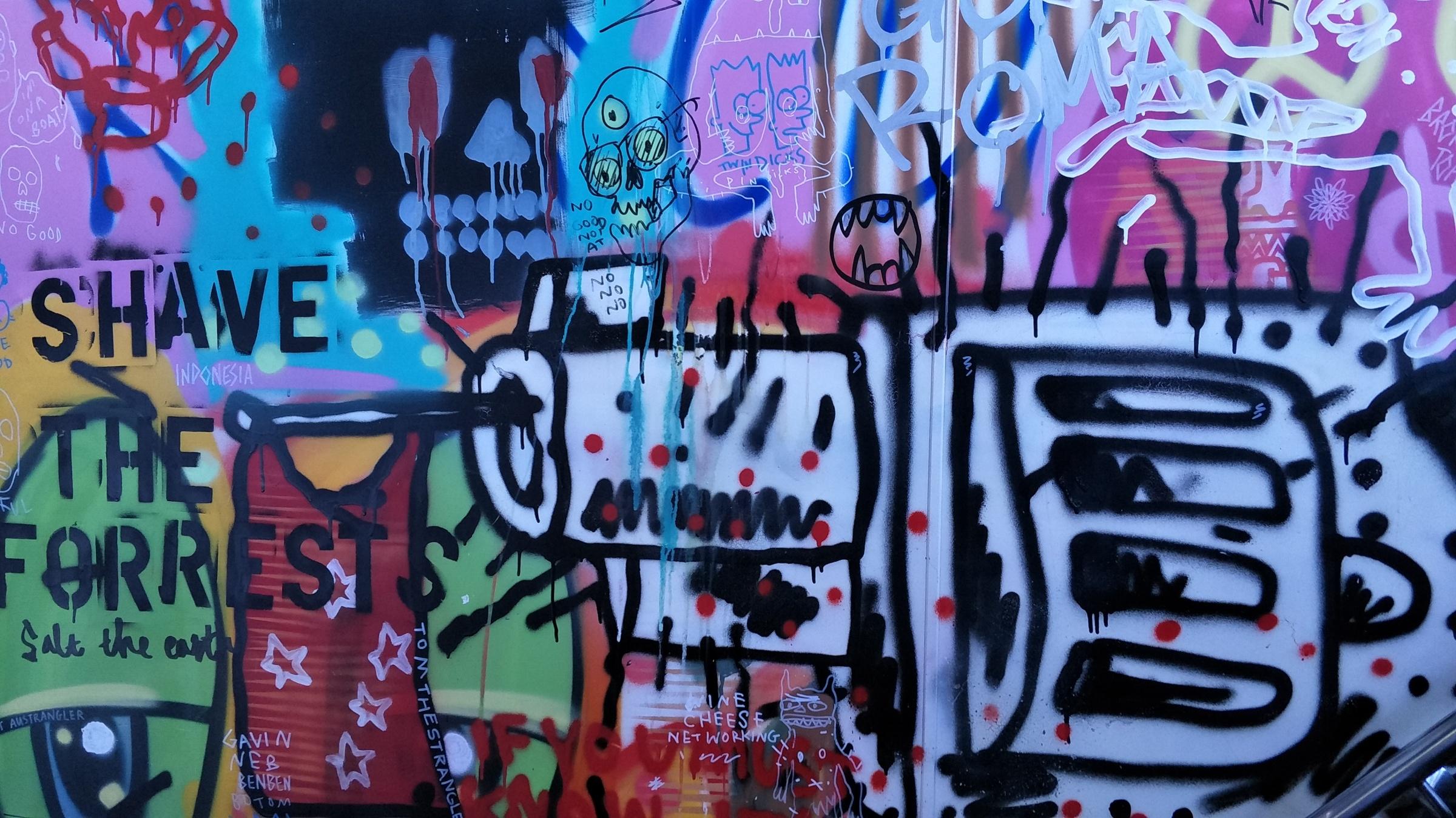 Graffiti on the MONA Ferry