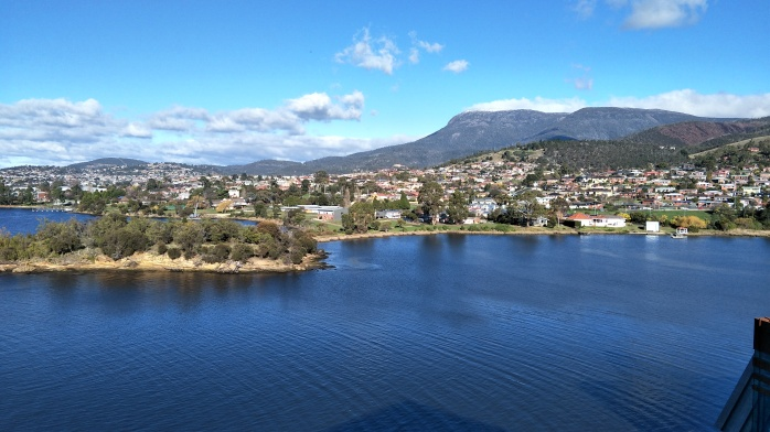 A view of Hobart from the Mona Ferry