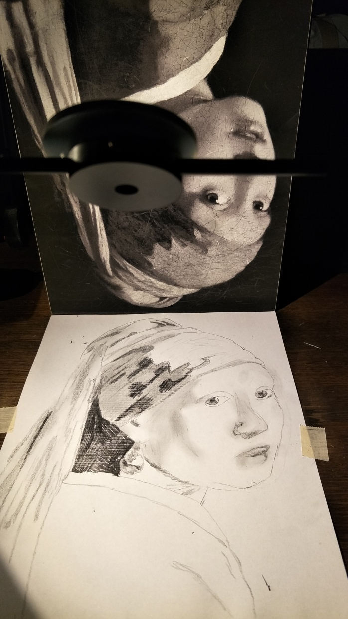 Drawing the Girl with the Pearl Earring