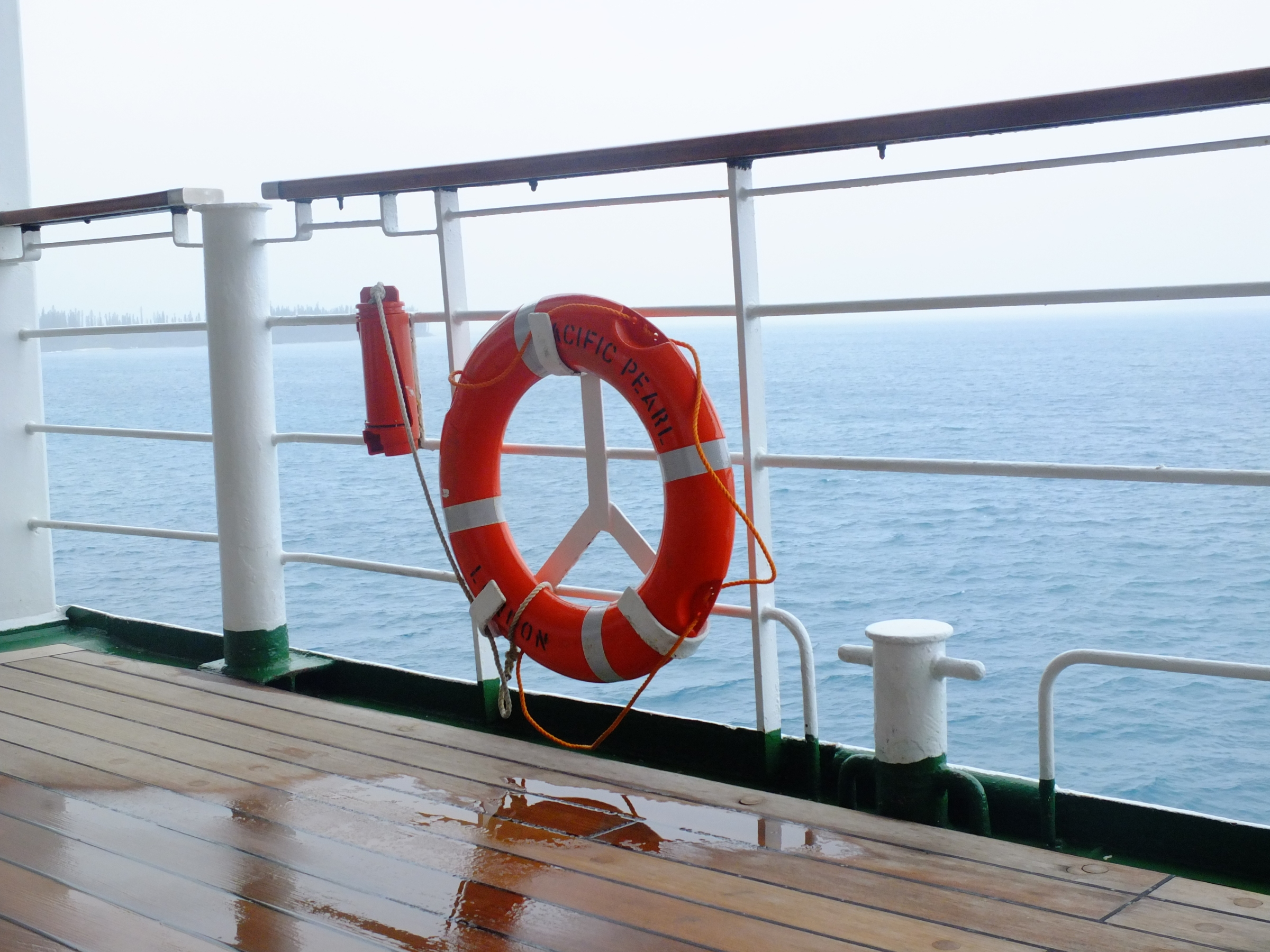 The deck of a P&O cruise ship