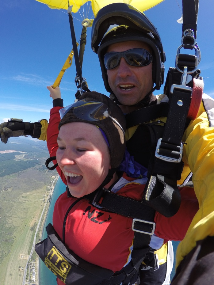 Sky Diving over Lake Taupo New Zealand