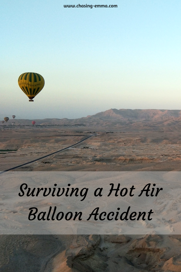 Surviving a Hot Air Balloon Accident Pin for Pinterest