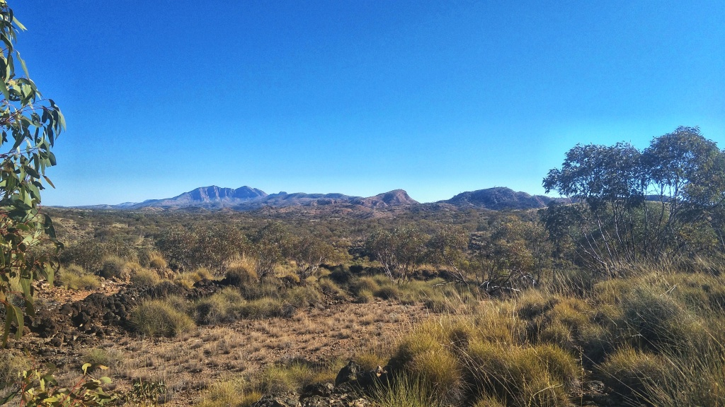 Views of Mt Sonder from Section 10 of the Larapinta Trail