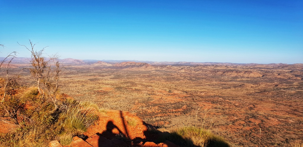 The view north west from the ridge of Mt Gillen in the Red Centre.