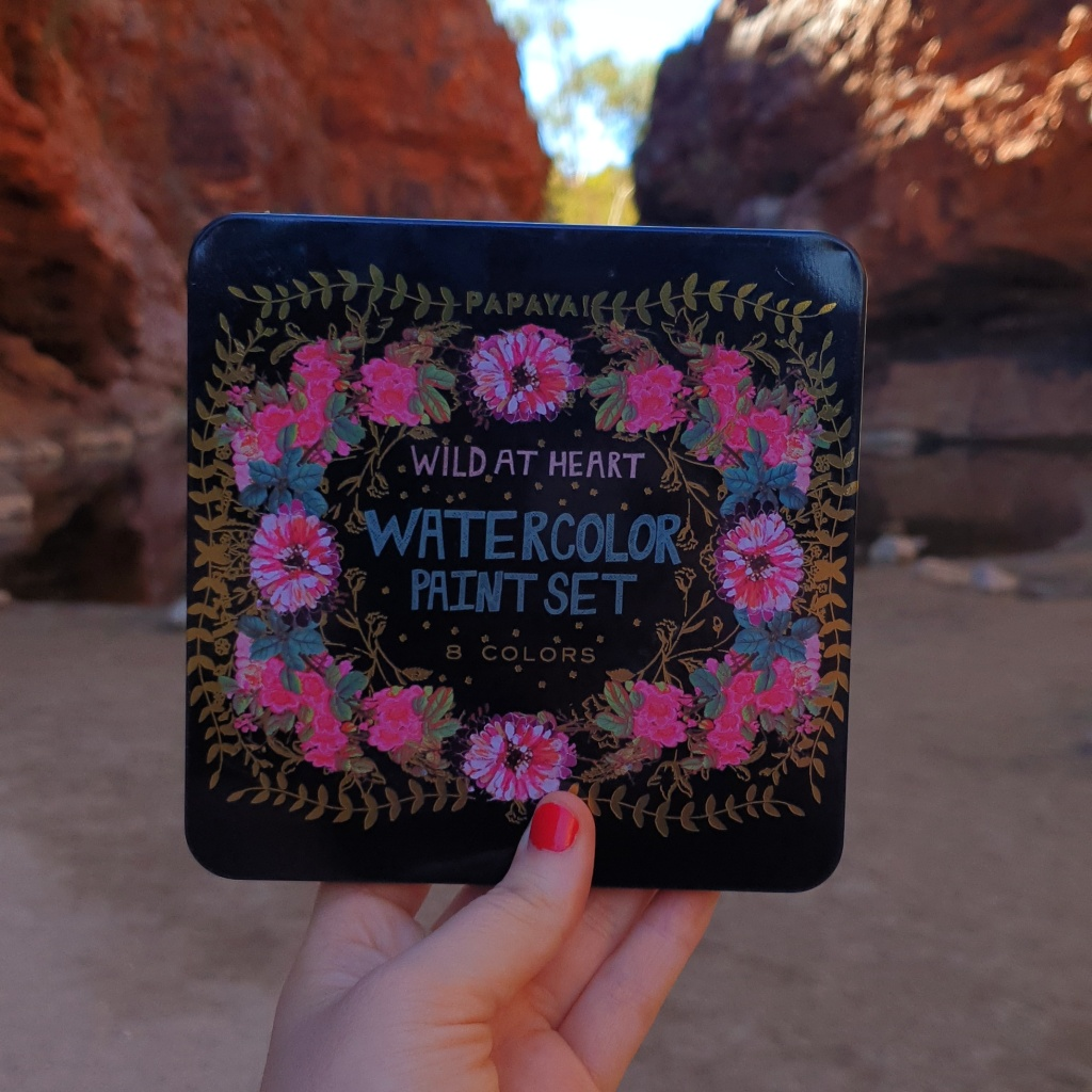 Wild at Heart Watercolor Paint Set at Simpson's Gap, Alice Springs