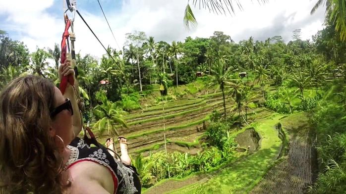 Tegalalang Rice Terrace Ubud zip line Chasing-Emma.com