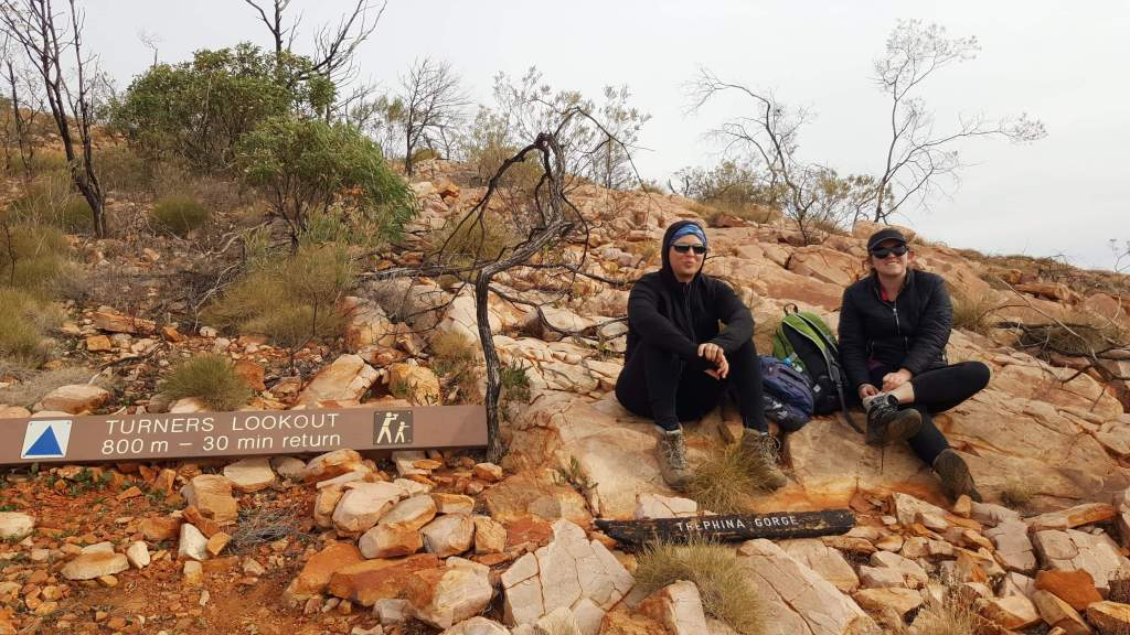 Resting during the Ridgetop Walk at Trephina Gorge